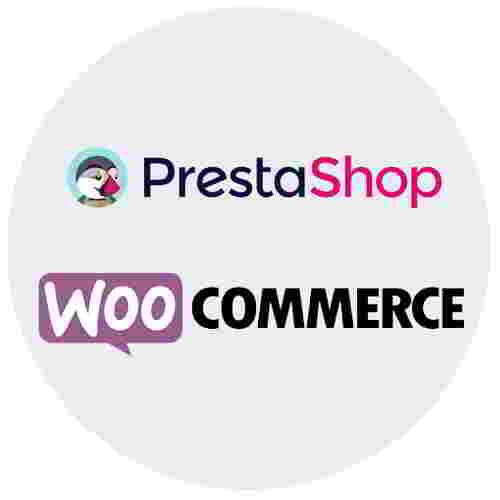 PrestaShop og Woo Commerce logo